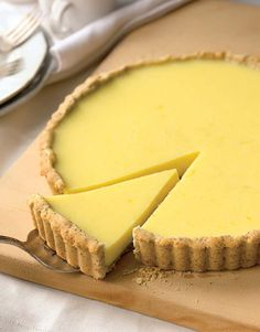 Lemon Curd Tart with Almond Crust - Tastebook Recipes - Tastebook