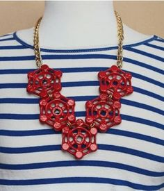 We love seeing creative people turn Home Depot hardware into stunning pieces of jewelry. Grace from Stripes + Sequins pulled together a truly unique necklace with valve handles. Click through to see...