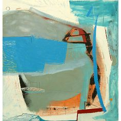 If I had a Boat - Matthew Lanyon Contemporary Abstract Art, Abstract Images, Abstract Landscape, Landscape Paintings, Abstract Paintings, Abstract Oil, Hirshhorn Museum, Painting Courses, Boat Painting