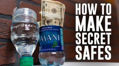 How to make 6 Secret Safes or Hiding Spots using common household items. From turning a bottle into a hidden compartment, to making your clock hide your Secret Hiding Spots, Secret Safe, Secret Box, Diy Hidden Storage Ideas, Secret Storage, Diy Storage, Hidden Compartments, Secret Compartment, Hidden Places