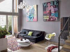 Un salón moderno en gris | Decorar tu casa es facilisimo.com