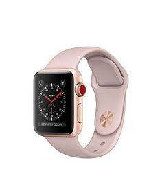 AppleWatch Series3 GPS, 38mm Gold Aluminum Case with Pink Sand Sport Band