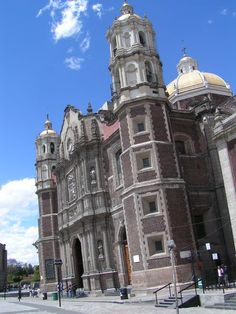 Old Basilica of Our Lady of Guadalupe Mexico City. The basilica is sinking due to the water under the land it was built on