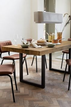 Buy Brooklyn Extending Dining Table from the Next UK online shop Rectangle Dining Table, Extension Dining Table, Extendable Dining Table, Round Dining Table, Dining Area, Home Decor Kitchen, Home Kitchens, Kitchen Dining, Kitchen Ideas