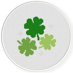 FREE Lucky Shamrocks Cross Stitch Pattern