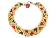 Multicolor Triangular Cabochon Collar