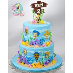 Bubble Guppies Cake, Bubble Guppies Edible Image, Bubble Guppies Edible Stickers, Edible Decals for Cake Bubble Guppies Birthday Cake, Bubble Birthday Parties, Bubble Guppies Party, 2nd Birthday Party Themes, Bubble Cake, 3 Year Old Birthday Cake, 4th Birthday Cakes, Frozen Birthday, Guppy
