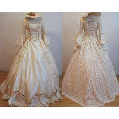 Regency Period Historical Reenactment Costumes for Women Prom Ball Gowns