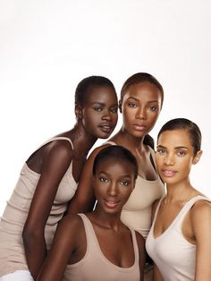 Find Your Perfect Shade for Lips, Lids and Face!.....I know that medium skinned girl on the top...she was on the Face.