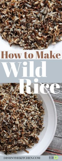 A quick tutorial on how to cook the best wild rice right on your stove. Serve as a side dish or add this healthy grain to salads or soups. Gluten Free Sides Dishes, Vegan Side Dishes, Side Dishes Easy, Vegetable Side Dishes, Basmati Rice Recipes, Brown Rice Recipes, Jasmine Rice Recipes, Side Dish Recipes, Dishes Recipes