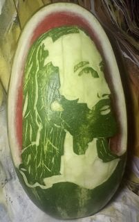 Watermelon Carving Easy, Art Van, Food Art, Sculpting, Sculptures, Fruit, Desserts, Beautiful, Tailgate Desserts