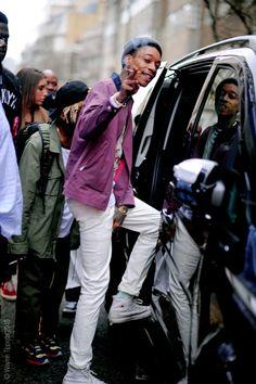 London – Wiz Khalifa.  #Wiz Khalifa, @mistercap, #AW15, #Fashion, #LCM, #London, #Man, #Men's #Fashion, #Mens #Week, #Moda, #Mode, #Rapper, #Street, #StreetStyle, #Style  Photo © Wayne Tippetts