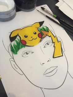 Bildresultat för pokemon face paint