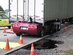 Chevrolet Corvette C5 crashed