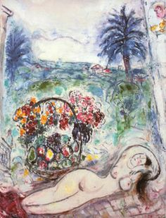 chagall, marc Nude with Flowers