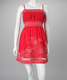 Take a look at this Coral Dietrich Dress - Women by Rosalita McGee on #zulily today!