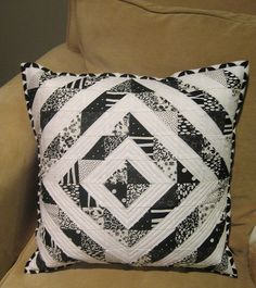 Quilted Pillow by teaginny, via Flickr