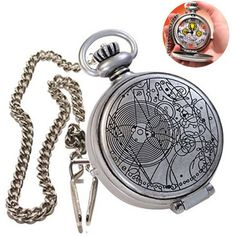 It's The Dr. Who - 10th Doctor FOB Watch. This Doctor Who FOB Watch is a working watch and features speech, light and sound effects and watch chain. Manufacturer: UNDERGROUND TOYS