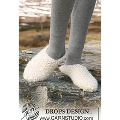 Scuff Slipper FREE pattern in Garter Stitch from DROPS