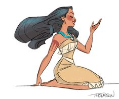 "stevethompson-art: "" Pocahontas. Instagram - @sthompsonart """