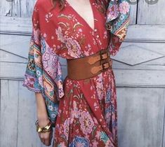 """spell and the gypsy collective kimono Gown. Condition is """"Pre-owned"""". Shipped with USPS Parcel Select Ground. Boho Hippie, Bohemian Style, Boho Chic, Women's Fashion Dresses, Boho Fashion, Maxi Dresses, Wrap Dresses, Maxi Skirts, Long Dresses"""