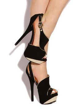 beautiful black and tan heels | high heels | Pinterest | Beautiful ...