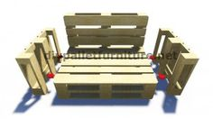 Step by Step instructions and plans of how to make a sofa with pallets easily 6