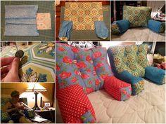 Creative Ideas - DIY Comfy Armchair Pillows & Creative DIY Pillow Ideas   Pillows Creative and Cuddling pillowsntoast.com
