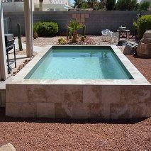 Above ground pool ground pools and pools on pinterest for Fiberglass above ground pool