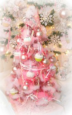 pink christmas pictures
