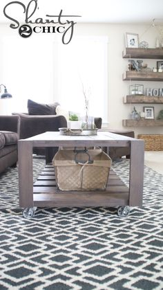 Build A DIY Crate Coffee Table On Wheels! Easy Build And Perfect For  Recycling Old