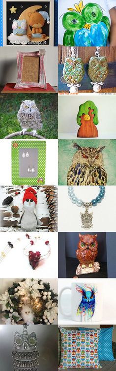 Owl, Owl art... All around by Roee Ovadia on Etsy--Pinned+with+TreasuryPin.com