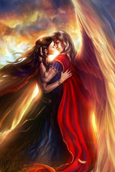 I see a forbidden love between a human woman and an angel. He is willing to face the wrath of God just for a chance with her. What do you see?