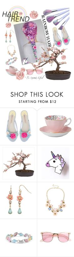 """""""Rainbow Hair"""" by otakutwins1 ❤ liked on Polyvore featuring beauty, Royal Albert, Nearly Natural, LC Lauren Conrad, Mixit, Cielle London and ZeroUV"""