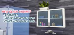 Modern medicine cabinet at Primadonna Sims • Sims 4 Updates