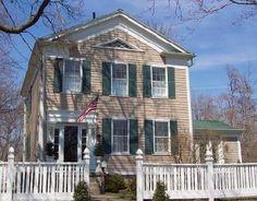 Yeager House, 1830s Perrysburg Ohio Perrysburg Ohio, Maumee Ohio, Brick Hearth, Historic Architecture, Toledo Ohio, Old Houses, Primitive, New Homes, Exterior