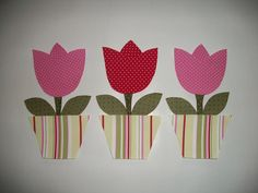 patchwork molde de tulipas - Pesquisa Google Flower Applique, Applique Patterns, Applique Designs, Flower Patch, Crochet Daisy, Pink Wallpaper, Quilt Blocks, Diy And Crafts, Sewing Projects