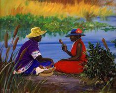 "Title: ""Gullah Spiced Chicken"" Artist: John W. Jones Medium: Original Acrylic on Canvas"