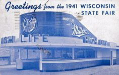 1941 POSTCARD FROM WISCONSIN STATE FAIR