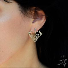 Ivy Leaf Sterling Silver Lightweight Stud Earrings Soothing Art Organic Shape Earrimgs Dainty Jewelry Wear All Day Gift For Mother/'s Day