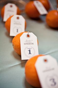 orange escort cards