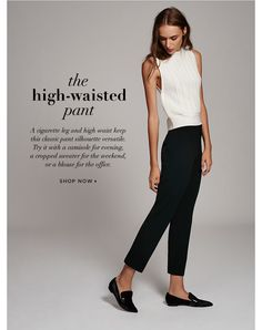 The perfect high-waisted pant. Period.