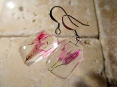 Chive Flower Dangle Earrings dangle earring plant by Chaerea