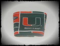 University of Miami Hurricanes Coffee Cup Cozy. $5.00, via Etsy.