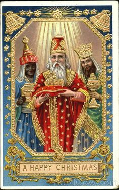 xmas card kings   Happy Christmas Nativity Three Kings Christmas