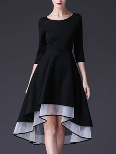 124a05f1c4e5 Dresses - Tiered High Low Half Sleeve Casual Midi Dress afflink
