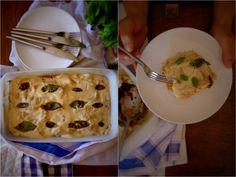 Autumn lasagna with roasted butternut squash and mushroom ragu @ mytinygreenkitchen.com