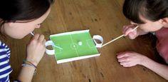 Puste-Fußball , schnell gebastelt und gut für die Mundmotorik
