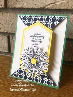 Up North Stampin' – Mary Hanson, Independent Stampin Up! Fancy Fold Cards, Folded Cards, Card Making Tutorials, Making Ideas, Daisy Delight Stampin' Up, Stamping Up Cards, Card Sketches, Cardmaking, Birthday Cards