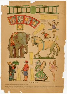 78.2774: A Circus | paper toy | play set | Play Sets | Toys | Online Collections | The Strong